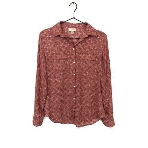 Loft Patterned Button Down Shirt
